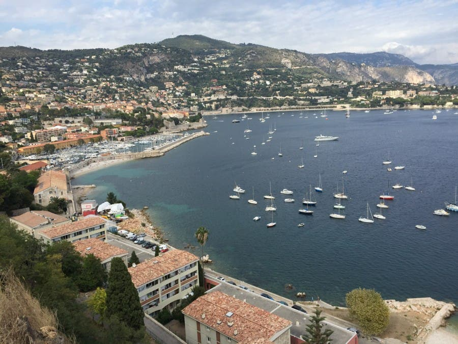 The kind of coastal town where the yachts call in. Here it's Villefranche sur Mer.