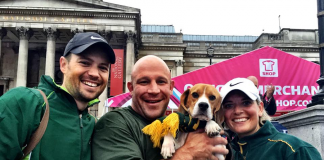 Springbok fans in London for morning jog