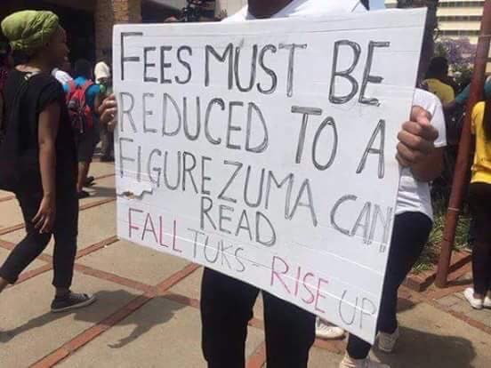 South African students protest. Source: Facebook
