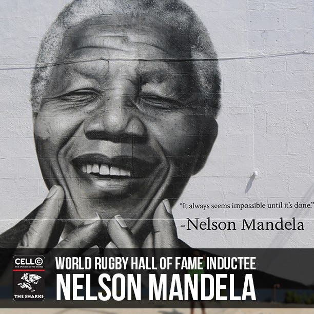 Nelson Mandela inducted into Rugby Hall of Fame