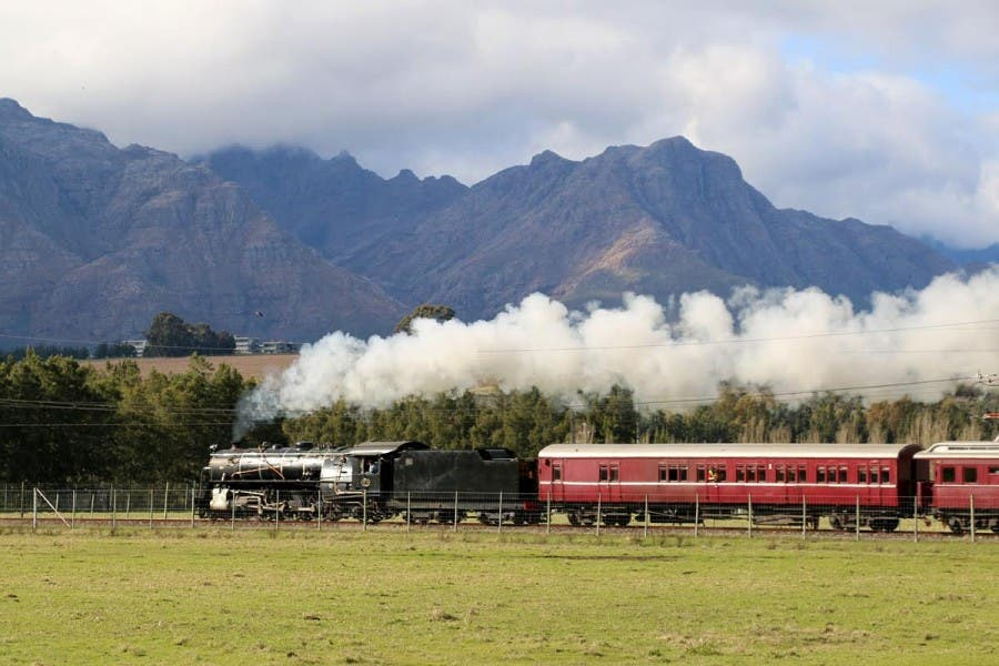 The Atlantic Rail train crosses the Winelands. Photos: Atlantic Rail.
