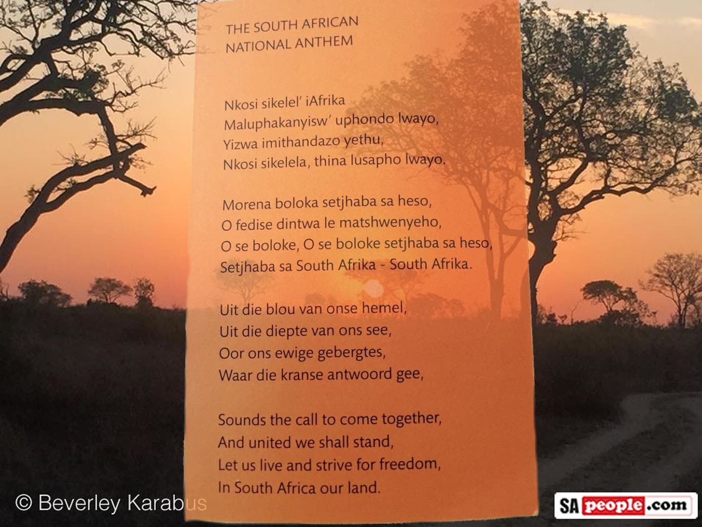 south african anthem words