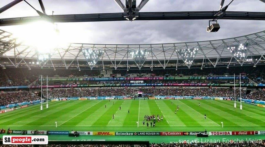 Springbok fans, Olympic stadium, London