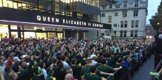 Springbok fans in London for morning jog
