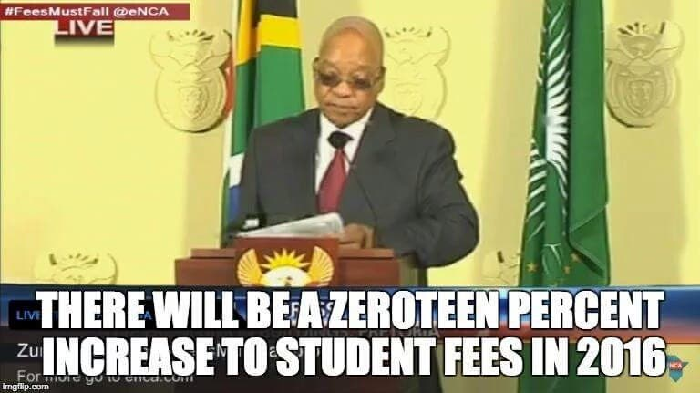 Zuma zeroteen joke