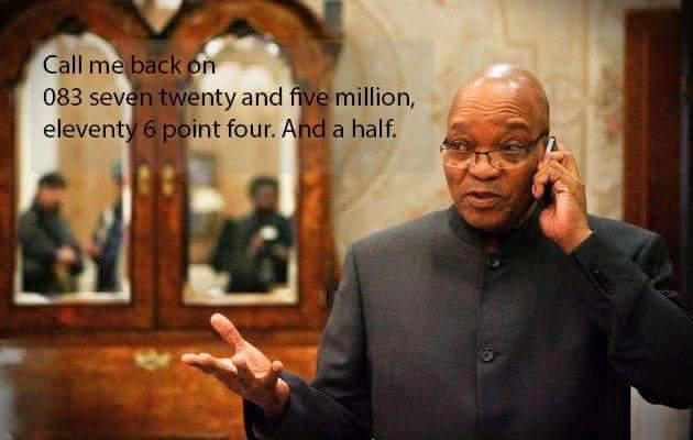 Zuma numbers joke