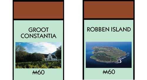Monopoly Groot Constantia and Robben Island