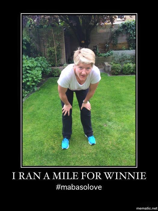 Ran a mile for Winnie