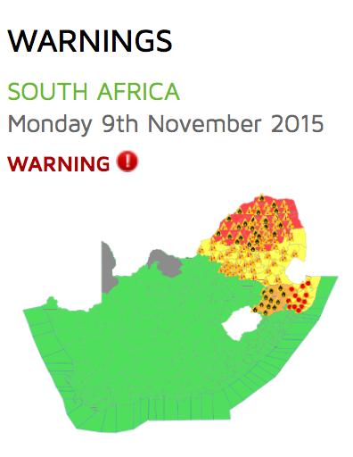 South African heatwave