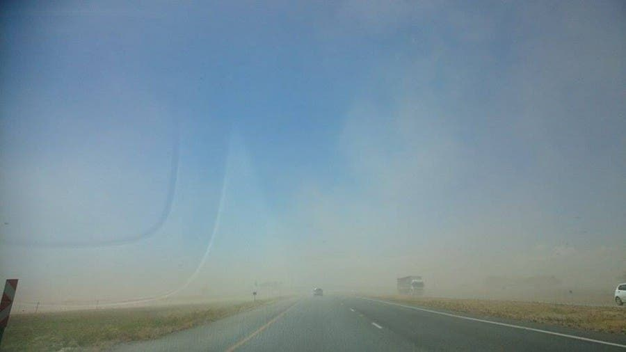 Rishal Sangan 15 November- while passing Villiers today we witnessed a sandstorm due to the lack of rain and heavy wind.