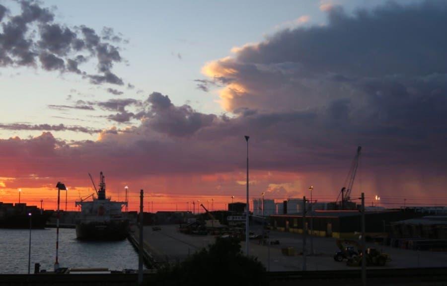Sunset over Fremantle Harbour