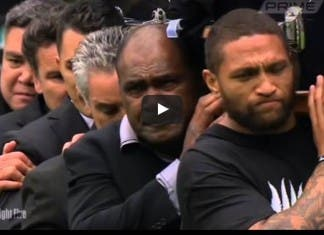 The Last Haka for Rugby Legend Jonah Lomu funeral