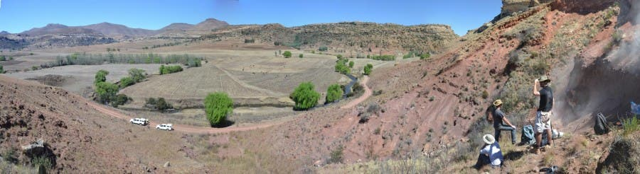 The excavation site near Clarens on the Lesotho border. Photo: Kimi Chapelle.