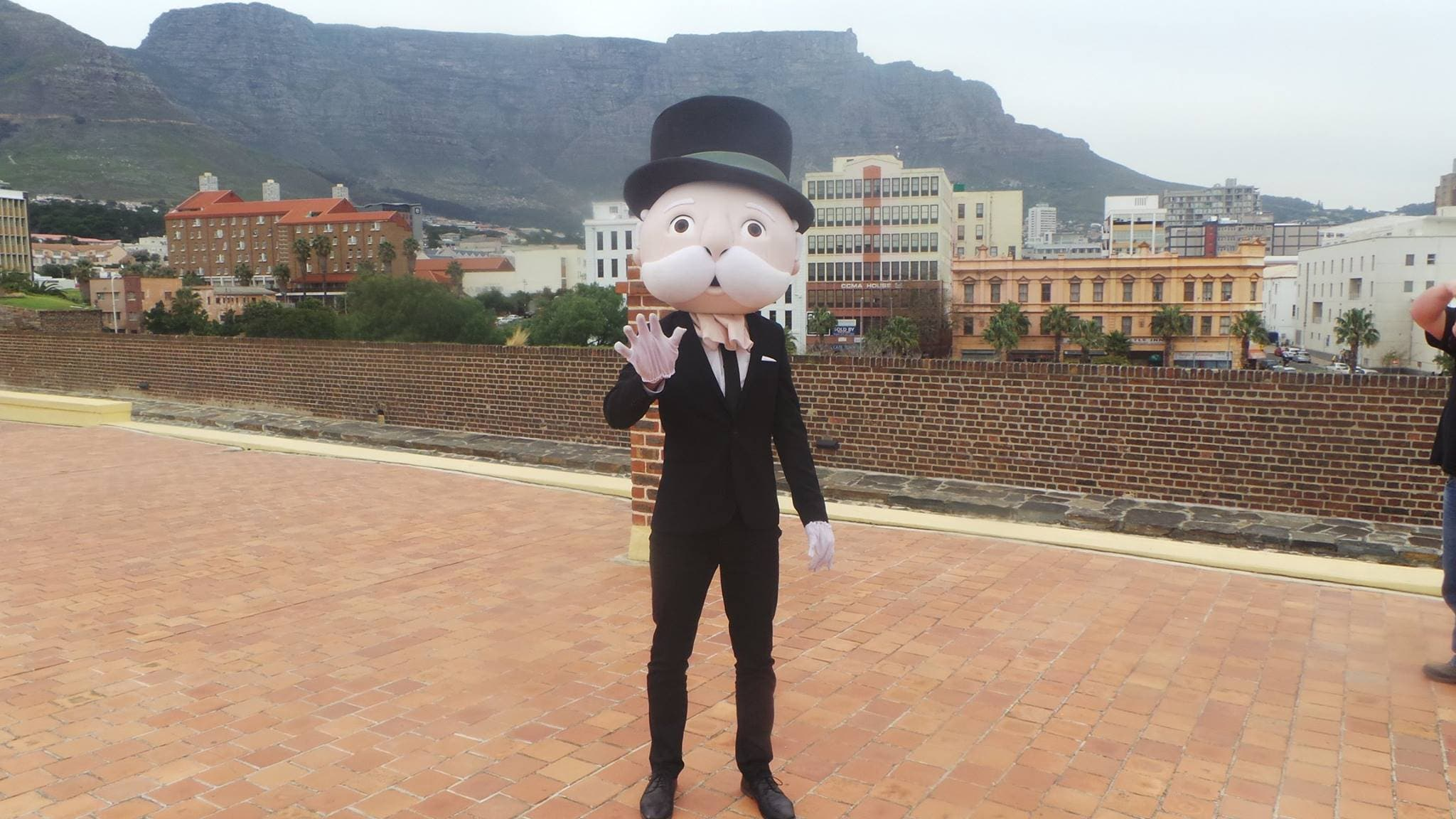 Mr. Monopoly in Cape Town. Source: Monopoly Cape Town Facebook page.