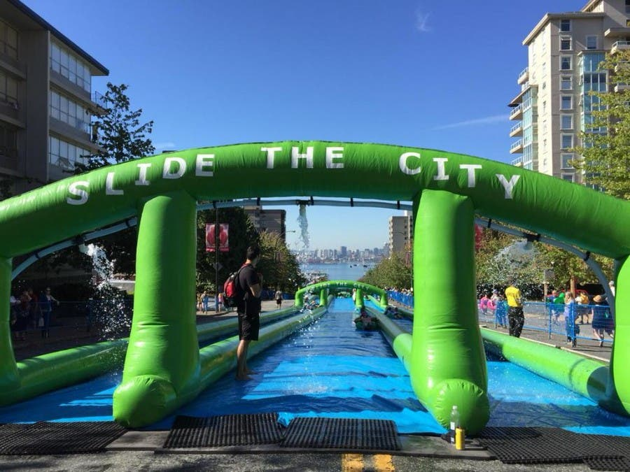 Slide the City in Vancouver, Canada. Source: Slide the City Twitter page.