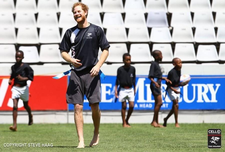Barefoot Prince Harry at Shark Tank