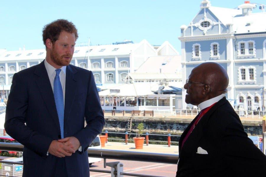 Prince Harry with Desmond Tutu