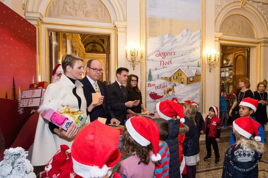 Princess Charlene in the palace