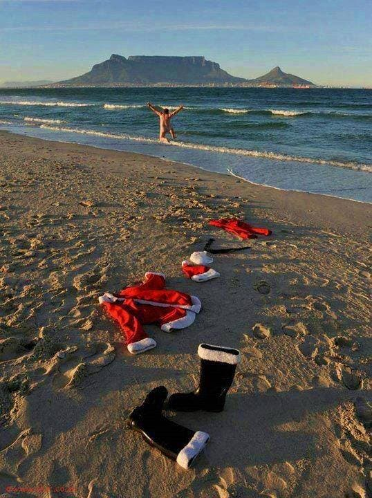 santa claus in cape town - African Christmas