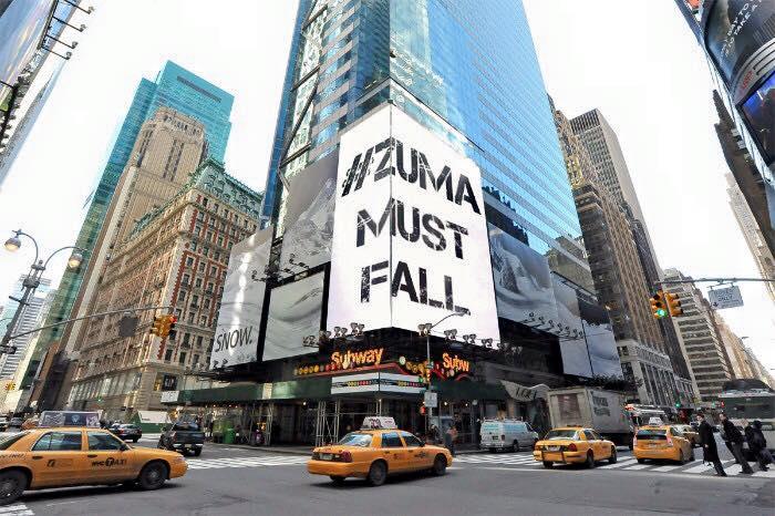 ZumaMustFall Banner in New York