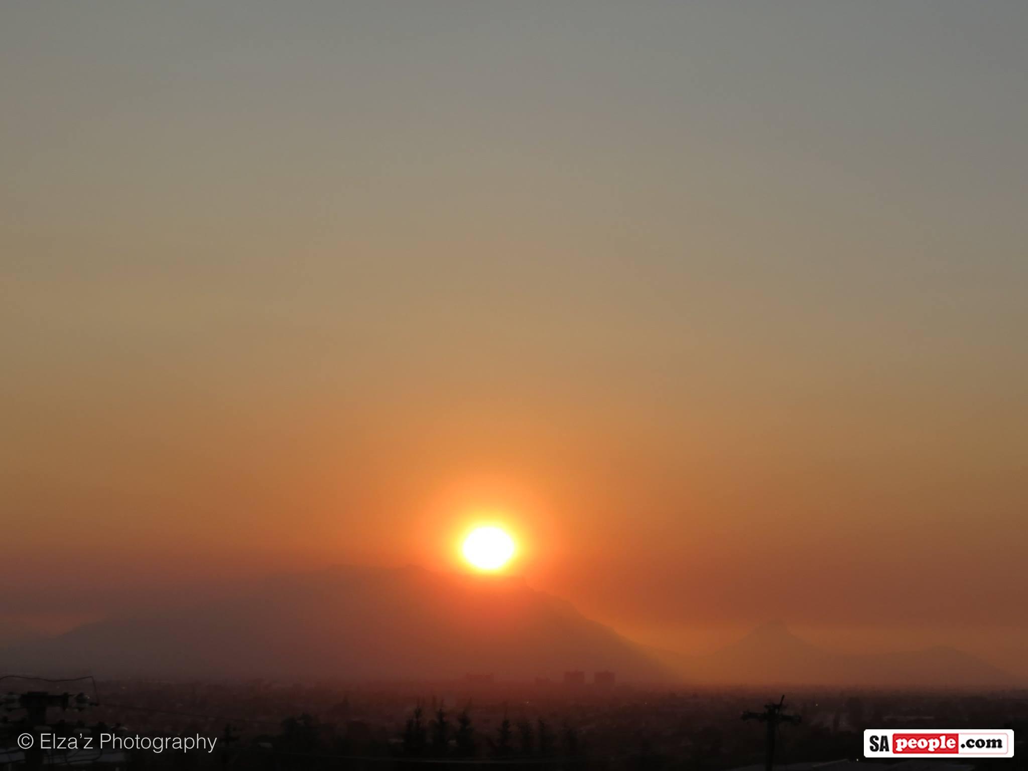 Cape Town fire sunset