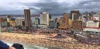Durban beach at Xmas