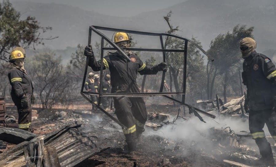 Fire destroyed property