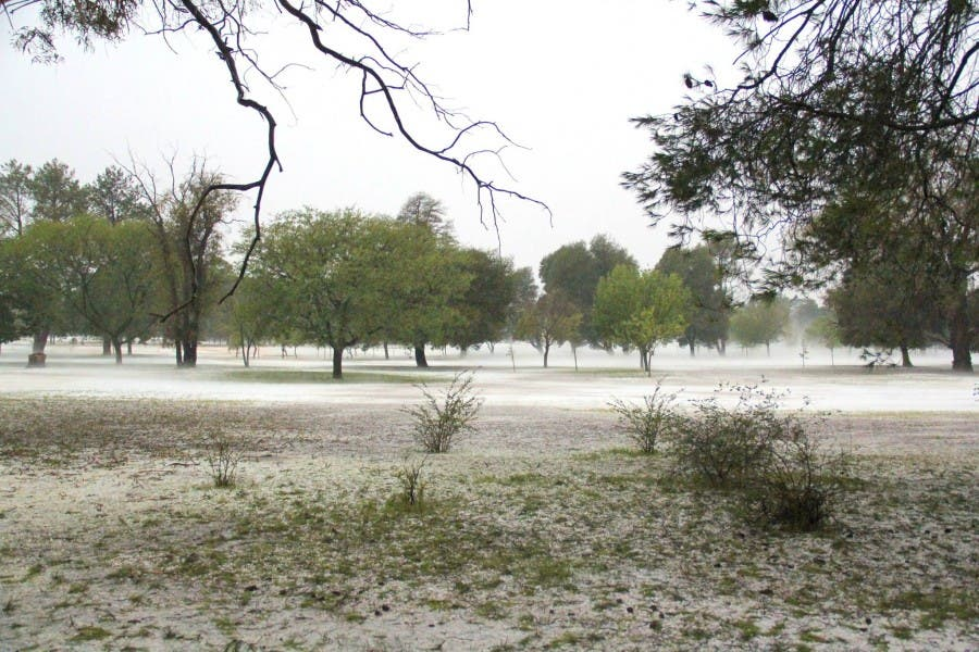 Golf course hail