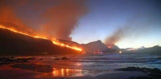 Misty Cliff Fire, South Africa
