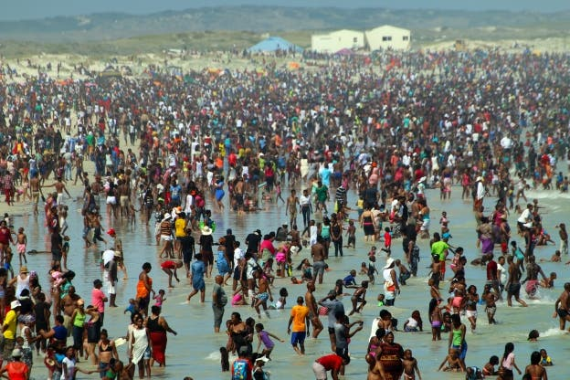 Muizenberg Beach New Year 2016