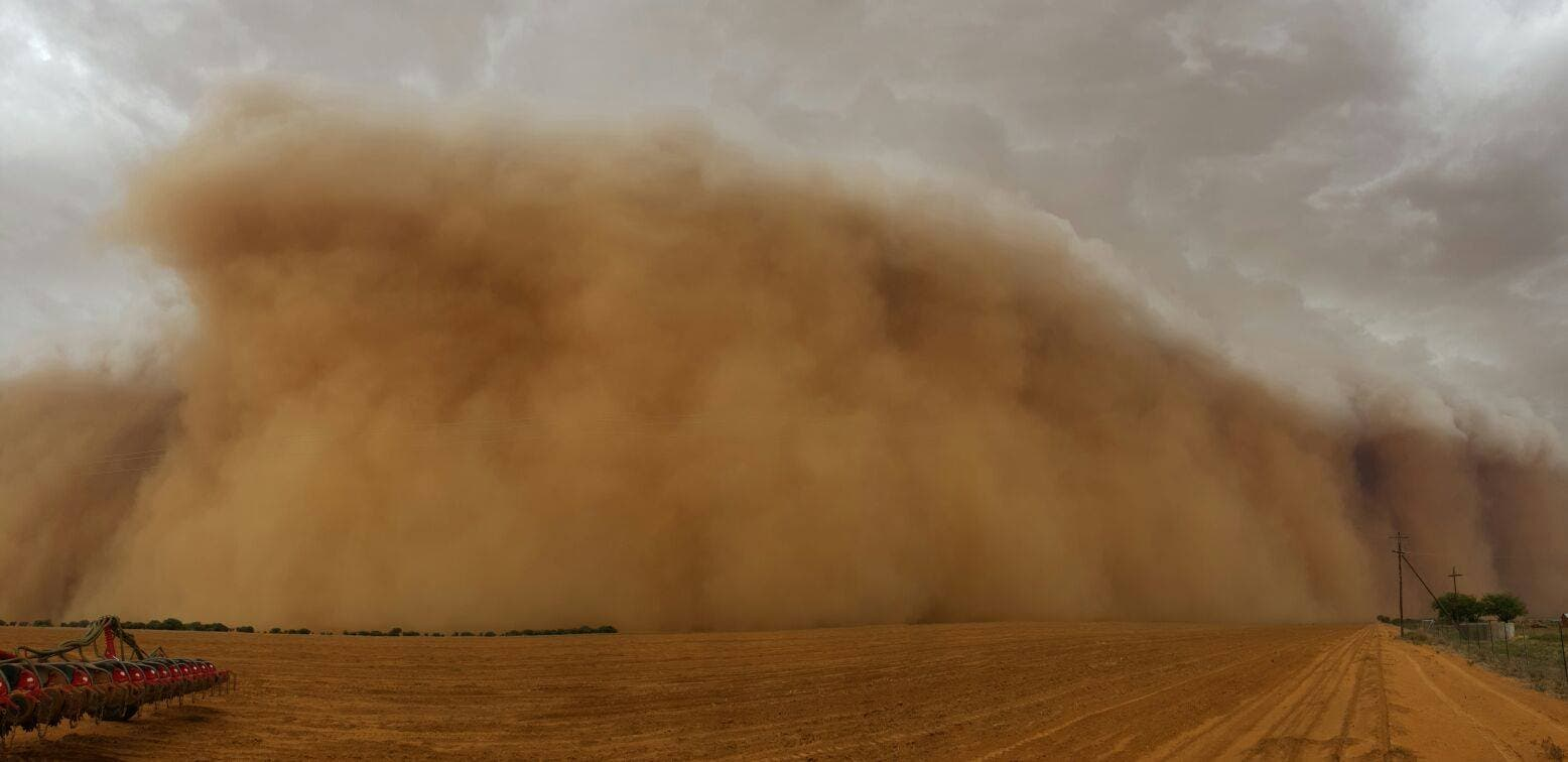 Sandstorm in Hoopstad