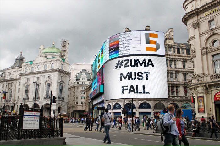 ZumaMustFall in London