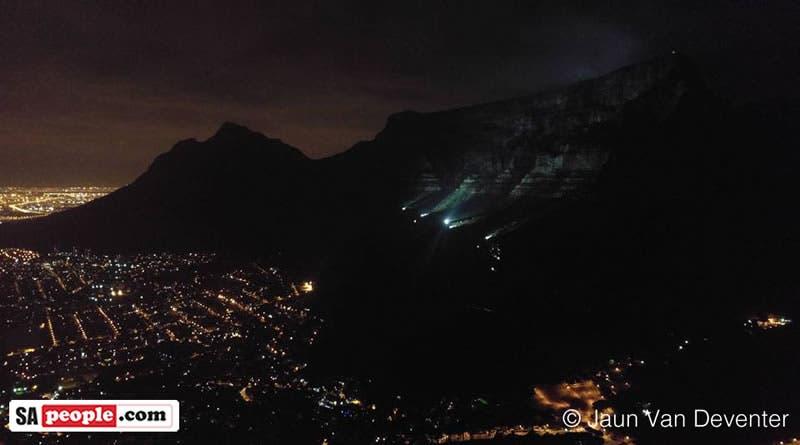 Table Mountain on Christmas Eve