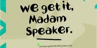 Nandos madam speaker