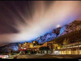 Table Mountain, blue for Childhood Cancer awareness