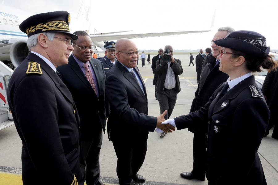 President Zuma is on a working visit to France