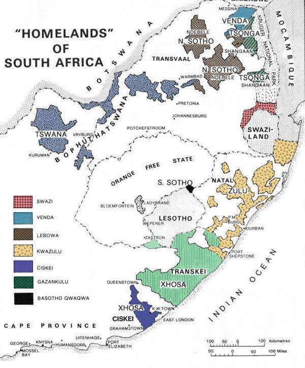 Homelands Apartheid Government South Africa