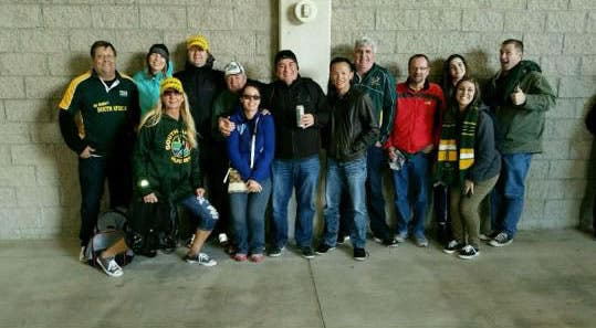 South African fans in Vegas