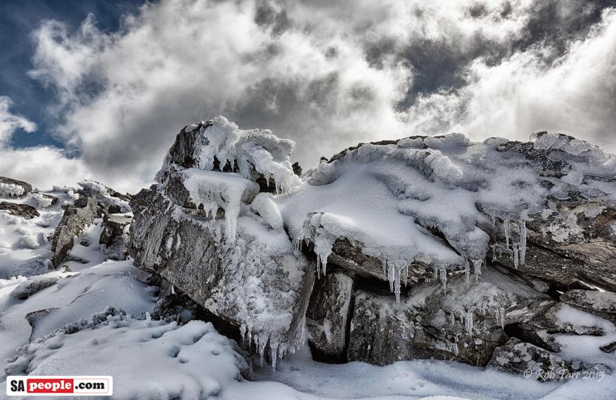 Snow in Matroosberg, August 2015