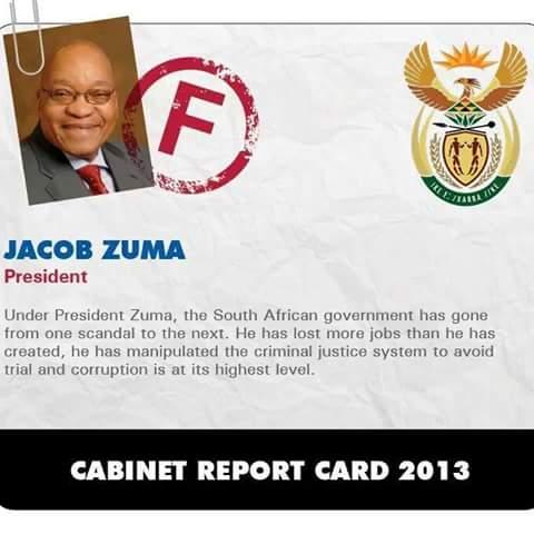 Zuma report card