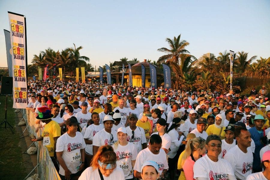 More than 30 000 people transformed the Durban promenade into a sea of yellow and white as they enjoyed a morning of fresh air, fun and exercise