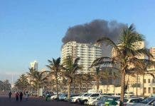 Blue Waters Hotel burning