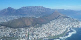 Cape Town from air