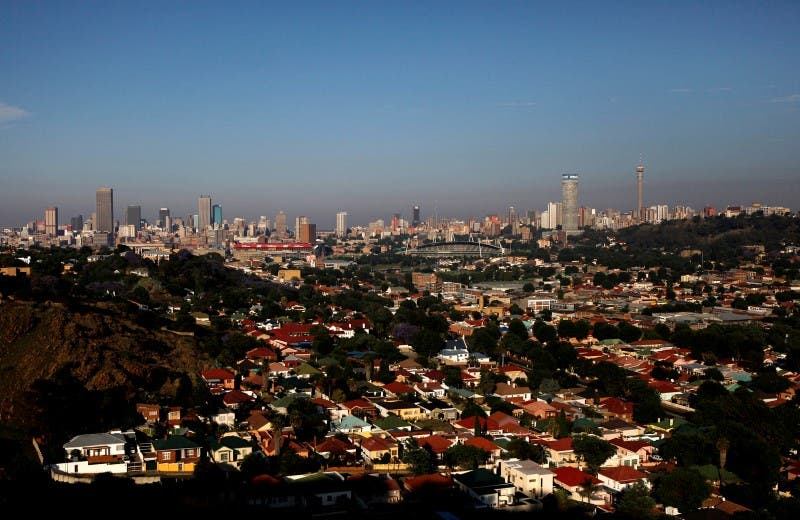 A view of the city of Johannesburg, November 8, 2009. REUTERS/Siphiwe Sibeko