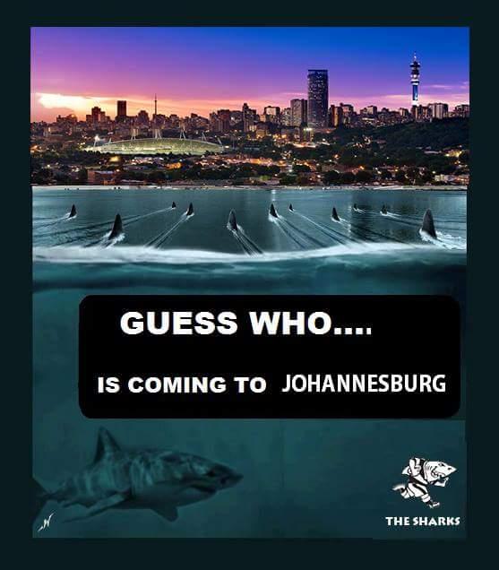 Sharks to Joburg
