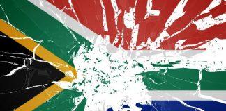 Shattered SA South African flag
