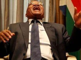 Zuma laughing