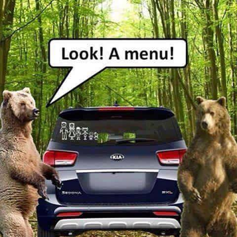 Bears Menu joke