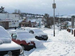 Van Reenens Pass snow