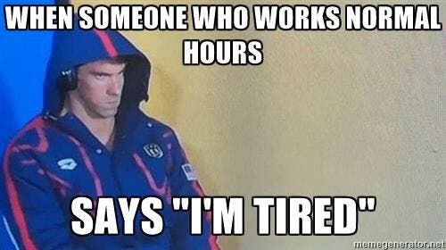 Phelps tired